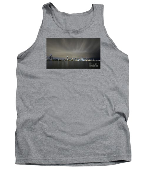 Tank Top featuring the photograph Chicago Skyline At Night by Keith Kapple