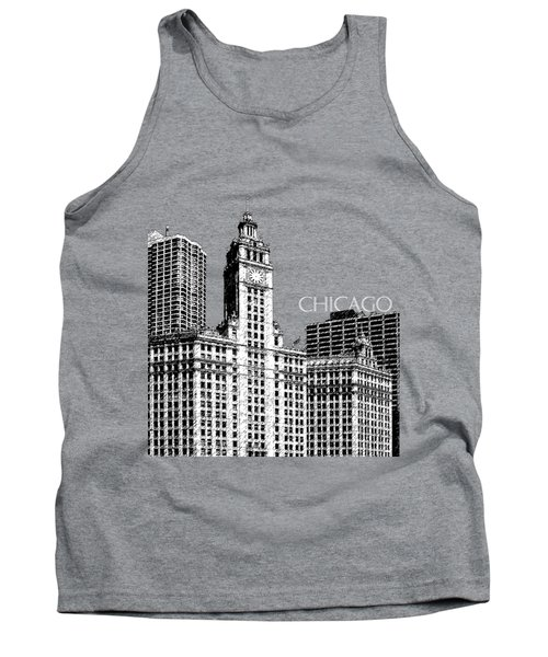 Chicago Wrigley Building - Salmon Tank Top
