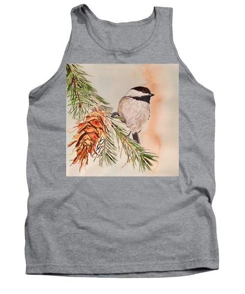 Chickadee In The Pine Tank Top