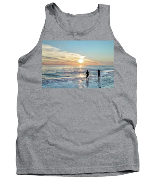 Children At Play On A Florida Beach  Tank Top