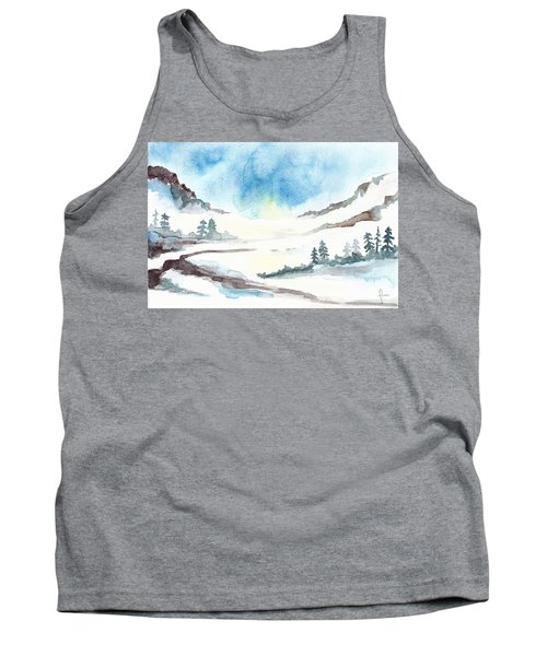 Children's Book Illustration Of Mountains Tank Top