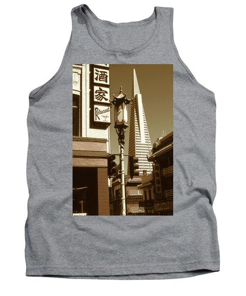Chinatown San Francisco - Vintage Photo Art Tank Top