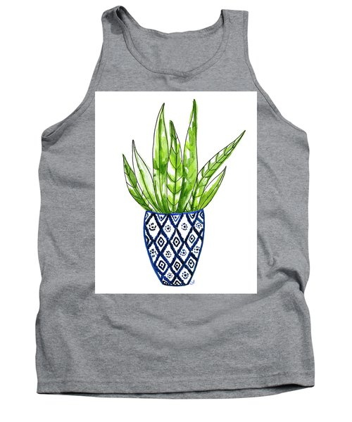 Chinoiserie Cactus No2 Tank Top