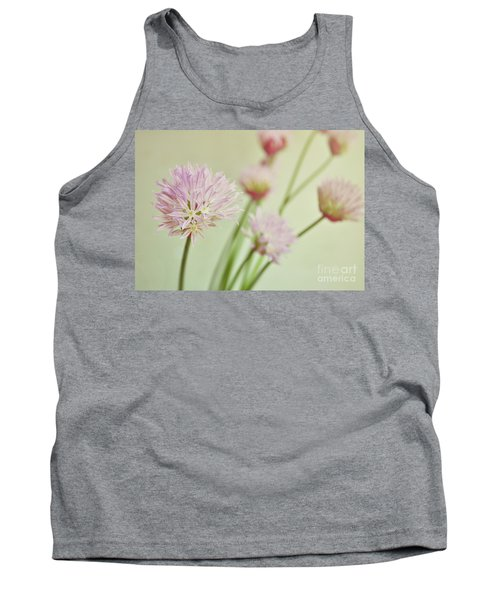 Chives In Flower Tank Top by Lyn Randle