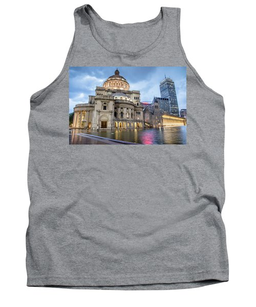 Tank Top featuring the photograph Christian Science Center In Boston by Peter Ciro