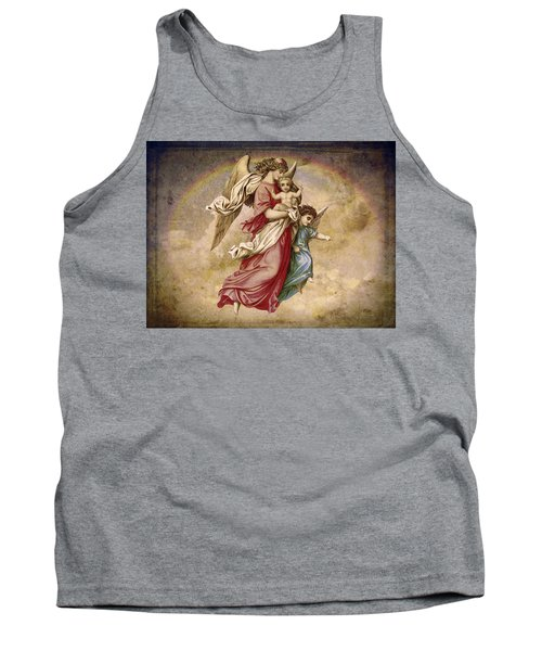 Christmas Angels And Baby Tank Top