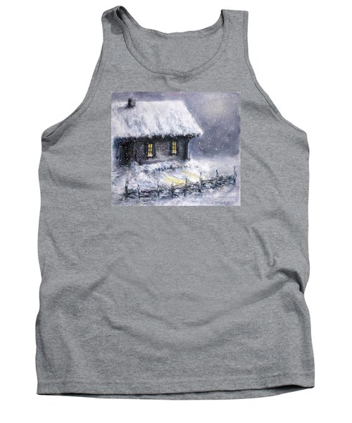 Tank Top featuring the painting Christmas Eve by Arturas Slapsys
