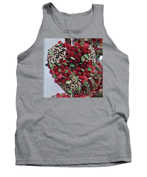 Christmas Heart Tank Top by Linda Prewer