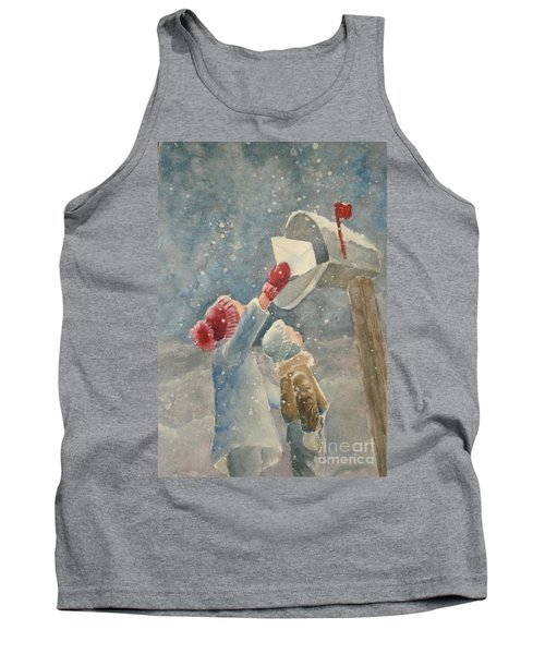 Christmas Letter Tank Top by Marilyn Jacobson