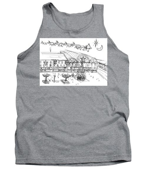 Christmas Shopping Tank Top by Artists With Autism Inc