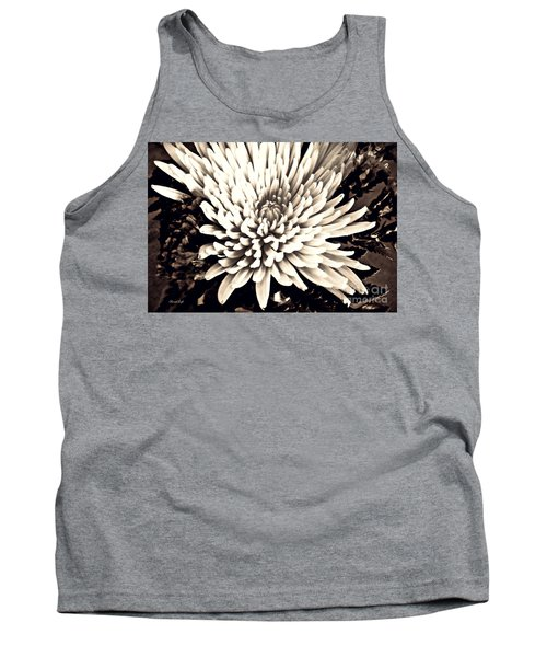 Tank Top featuring the photograph Chrysanthemum In Sepia 2  by Sarah Loft