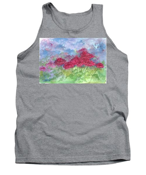 Tank Top featuring the painting Chrysanthemums by Cathie Richardson