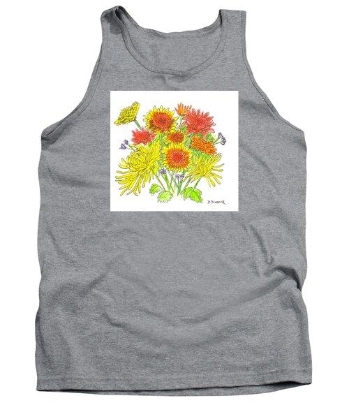 Chrysanthemums Tank Top by Deborah Dendler