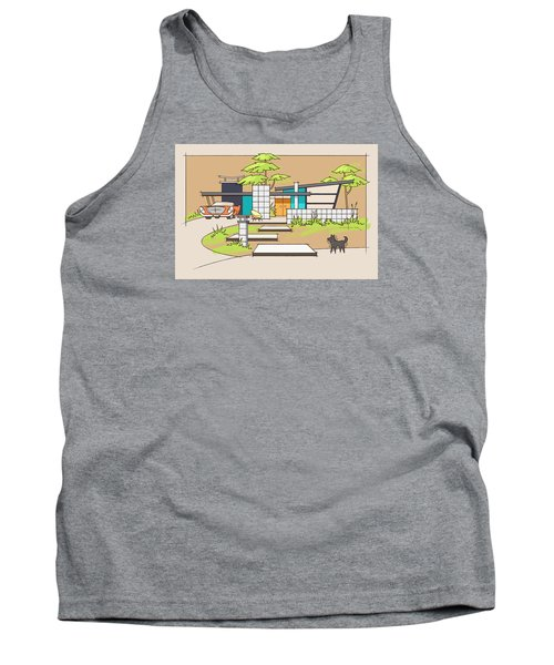 Chrysler With Black Dog, A Mid-century Home Tank Top
