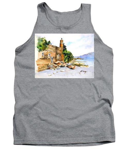 Church Of Primacy, Galilee Tank Top