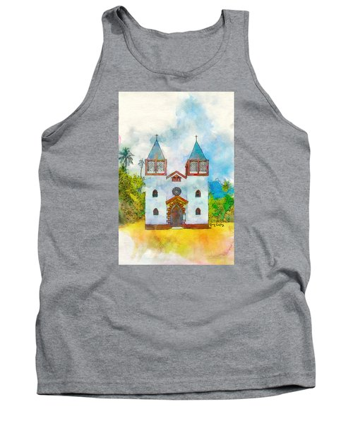 Church Of The Holy Family Tank Top by Greg Collins