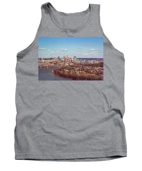 Cincinnati Skyline 2 Tank Top by Scott Meyer