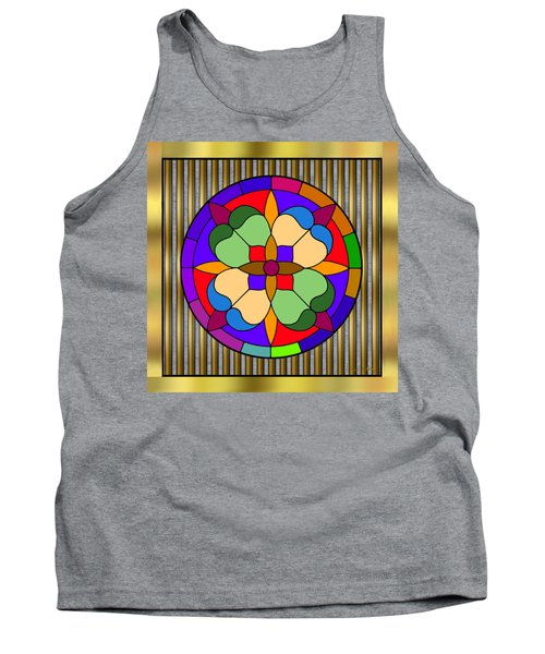Circle On Bars 4 Tank Top by Chuck Staley