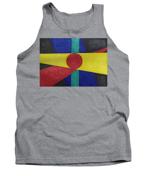 Circles Lines Color #4 Tank Top
