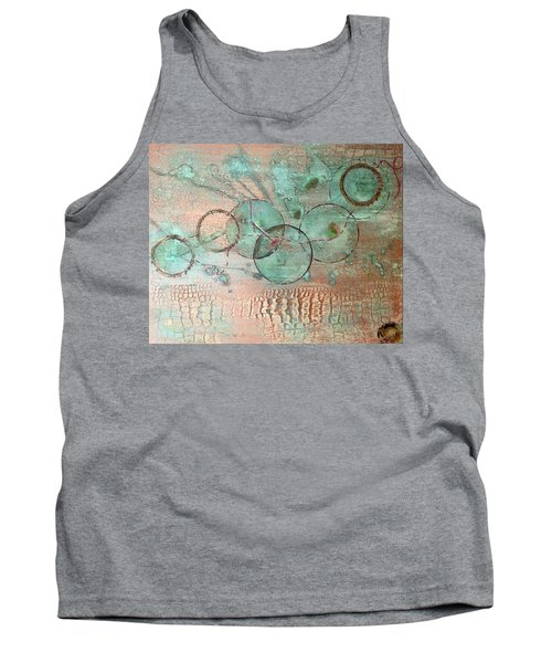Circumnavigate Tank Top by T Fry-Green