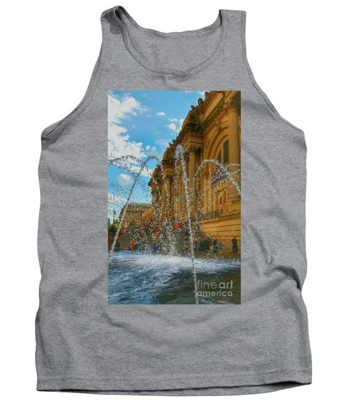 Tank Top featuring the photograph City Fountain  by Raymond Earley