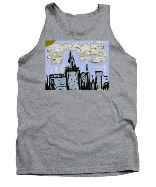 City In Blue Tank Top by Dan Twyman