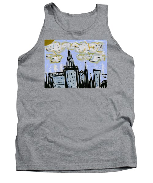 City In Blue Tank Top
