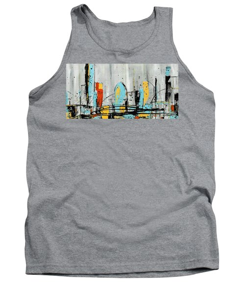 Tank Top featuring the painting City Limits by Carmen Guedez