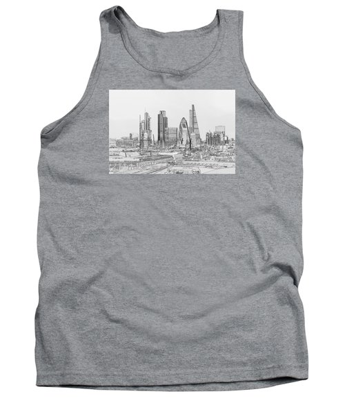 City Of London Outline Poster Bw Tank Top