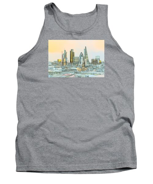 City Of London Outline Poster  Tank Top