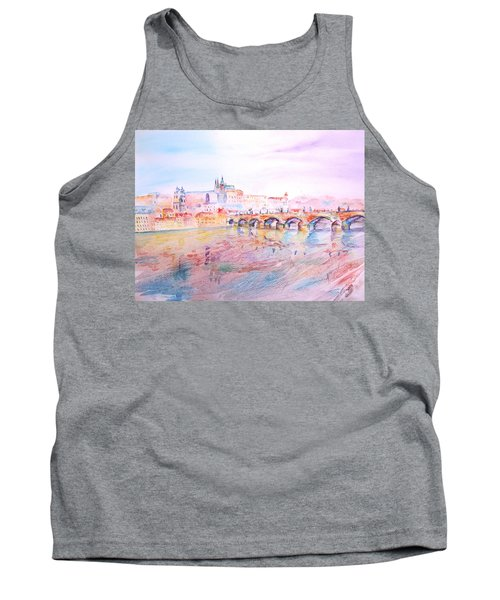 Tank Top featuring the painting City Of Prague by Elizabeth Lock
