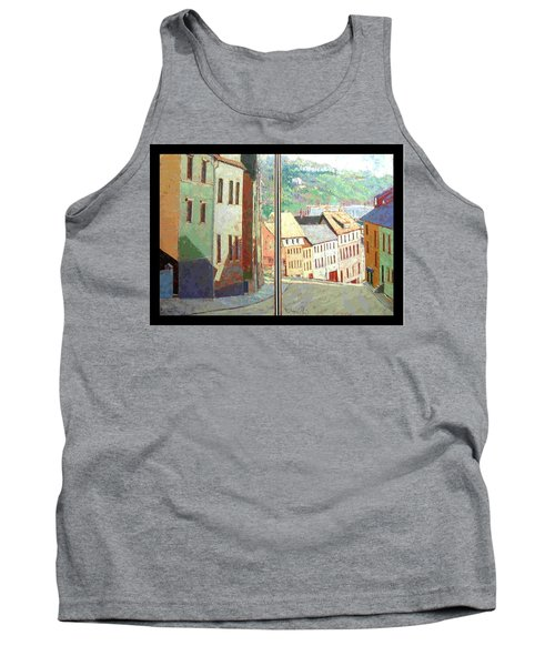 Tank Top featuring the painting City Scape-dyptich by Walter Casaravilla