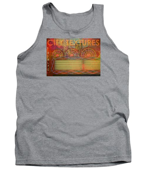 City Textures Theater Tank Top by John Fish