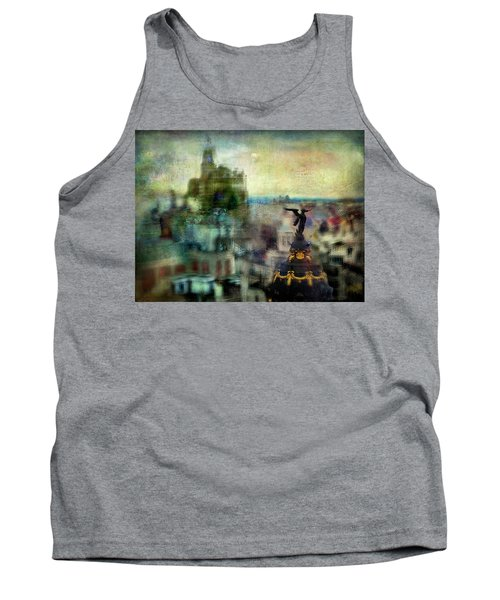 Tank Top featuring the photograph Cityscape 38 - Homeless Angels by Alfredo Gonzalez