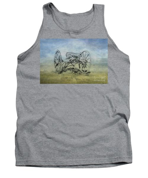 Civil War Cannon Sketch  Tank Top