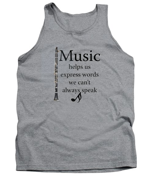 Clarinet Music Expresses Words Tank Top