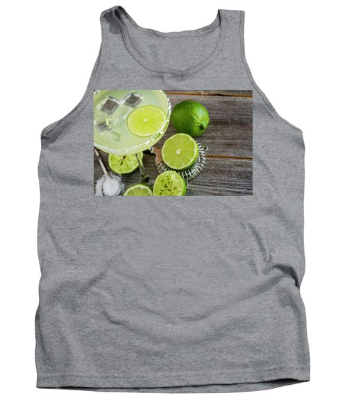 Tank Top featuring the photograph Classic Lime Margarita by Teri Virbickis