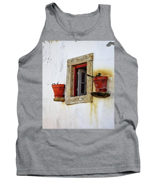 Tank Top featuring the photograph Clay Pots In A Portuguese Village by Marion McCristall