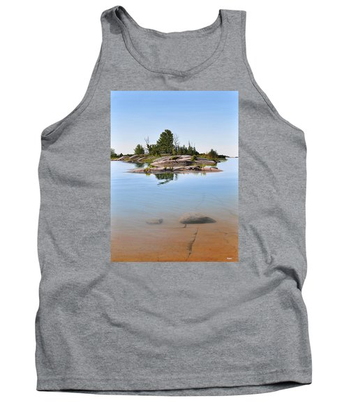 Tank Top featuring the painting Clear Contentment by Kenneth M Kirsch