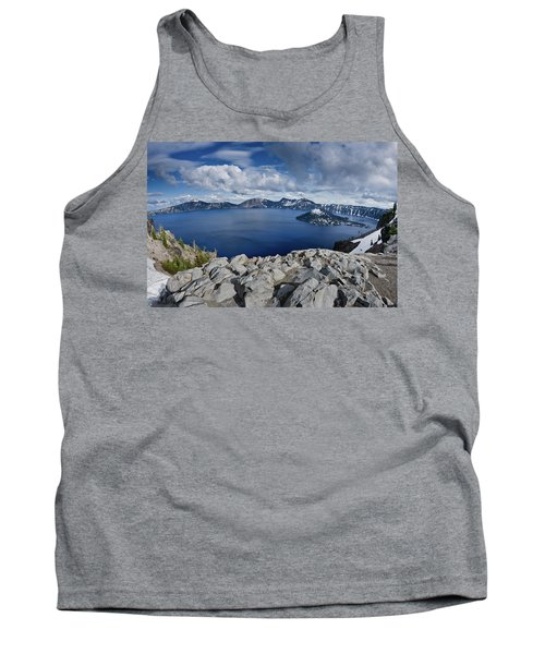 Clearing Storm At Crater Lake Tank Top