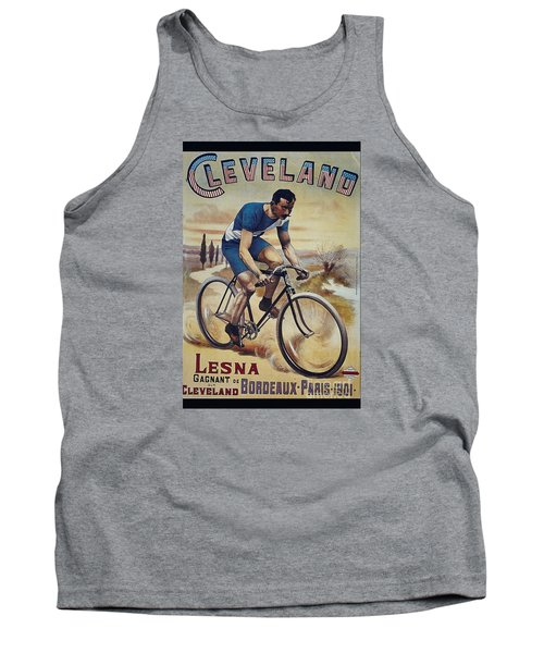 Cleveland Lesna Cleveland Gagnant Bordeaux Paris 1901 Vintage Cycle Poster Tank Top by R Muirhead Art