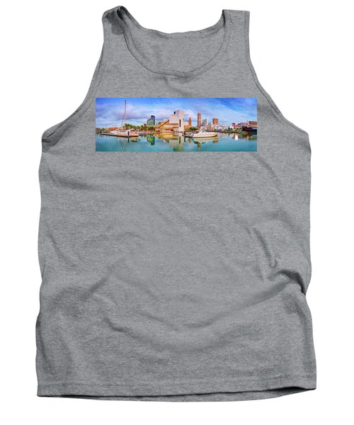 Tank Top featuring the photograph Cleveland  Pano 1  by Emmanuel Panagiotakis