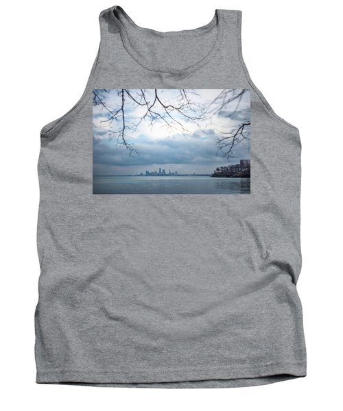 Cleveland Skyline With A Vintage Lens Tank Top