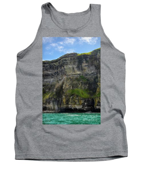 Tank Top featuring the photograph Cliffs Of Moher From The Sea Close Up by RicardMN Photography
