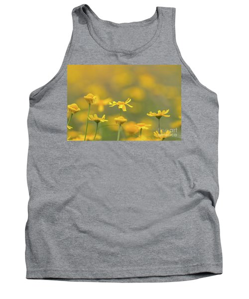 Close Up Of Yellow Flower With Blur Background Tank Top