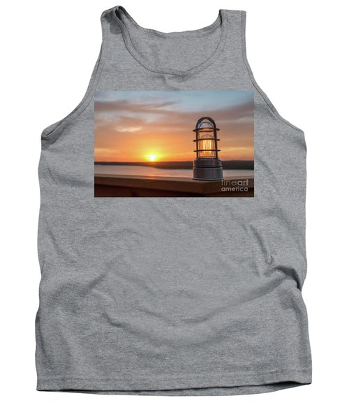 Closeup Of Light With Sunset In The Background Tank Top