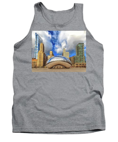 Tank Top featuring the photograph Cloud Gate @ Millenium Park Chicago by Peter Ciro