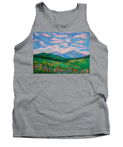 Cloud Swirl Over The Peaks Of Otter Tank Top