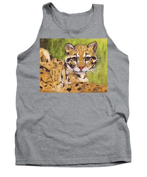 Tank Top featuring the painting Clouded Cat by Jamie Frier