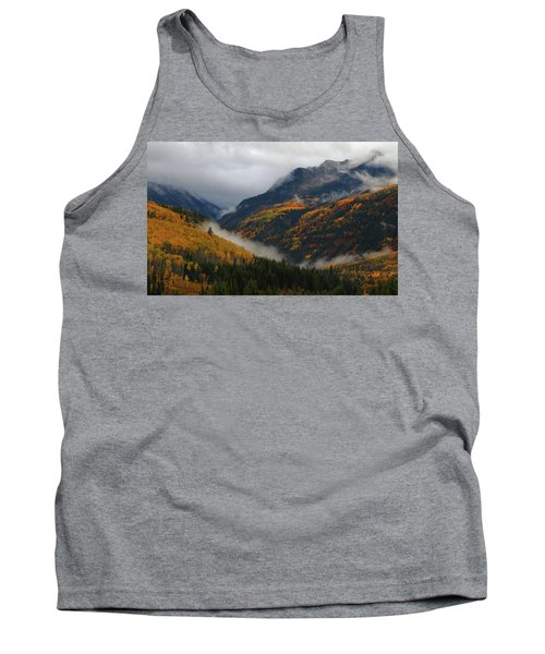 Clouds And Fog Encompass Autumn At Mcclure Pass In Colorado Tank Top
